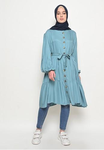My Daily Hijab blue Talitha Tunik Cerulian 442B4AAF6C37BFGS_1