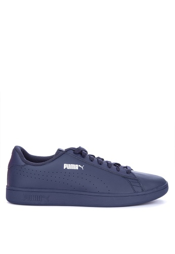 Shop Puma Smash V2 Leather Perforated Sneakers Online on ZALORA Philippines be6526dfa