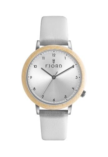 Fjord white Fjord Women's Genuine Leather Watch - FJ-6049-01 93449AC1AC6DBBGS_1