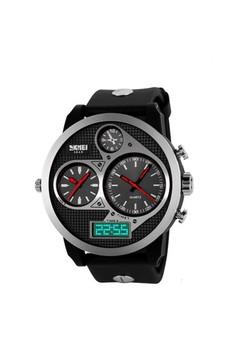 50M Waterproof Dual Mode 3 Time Zone Chrono Watch