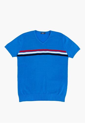 FOREST blue Forest Fancy Knitted V Neck T Shirt Men Sweater Men Knitwear - Baju Sweater Lelaki Knitwear - 23191 - 32LtBlue D6FE5AAD021207GS_1