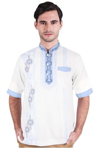 LGS white LGS - Slim Fit - Baju Koko - Lengan Pendek - Garis Vertikal - Putih 47CD4AA520D6F1GS_1