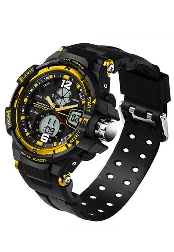 SANDA gold SANDA 289 Waterproof Outdoor Multifunctional Sports Men's Quality Shockproof Digital Watch (Gold) SA708AC0RXBWMY_1