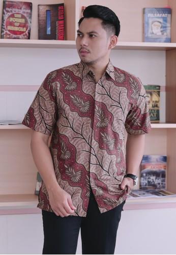Batik Talenta Exclusive red kemeja batik pria lengan pendek Batu raden 21390 E61C1AA2CE135BGS_1