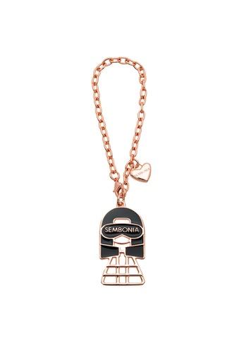 SEMBONIA pink Enamelled Dolly Bag Charm 155E6ACC1EA6A8GS_1
