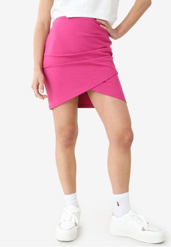 PIMKIE pink Wrap Around Skirt 76518AA797B7A9GS_1
