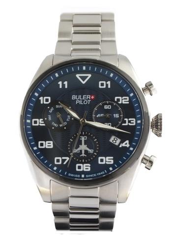 Buler blue and silver Buler Sport Watch - Blue - Gents - Date- 6H BU689AC2VG1OHK_1