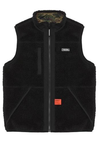 Fingercroxx black Bigfoot reversible camo vest F8A67AADB91BEDGS_1