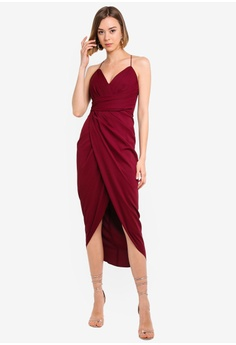 b1e633520a41 Forever New red Charlotte Drape Maxi Dress C33ABAA1294319GS_1
