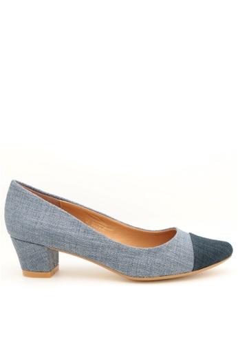 PRODUIT PARFAIT 藍色 雙色尖頭高踭鞋 2EADDSH459D972GS_1