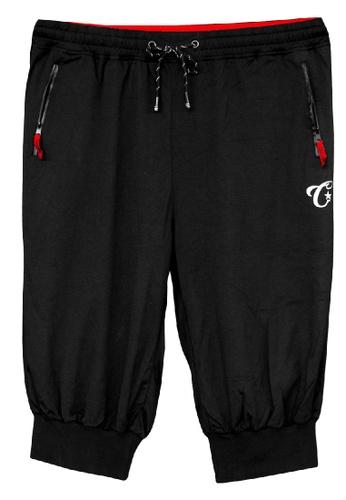 Challenger black Challenger Men Big Size 3/4 Pant With Grib 0XL-6XLPlus Size CH6043 (Black) E21D8AAECFBB8BGS_1