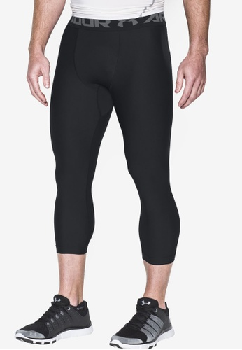 Under Armour black UA HeatGear Armour 2.0 3/4 Leggings UN337AA38KGBMY_1