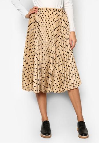 Goswellesprit outlet 香港 點點百褶裙, 服飾, 及膝裙