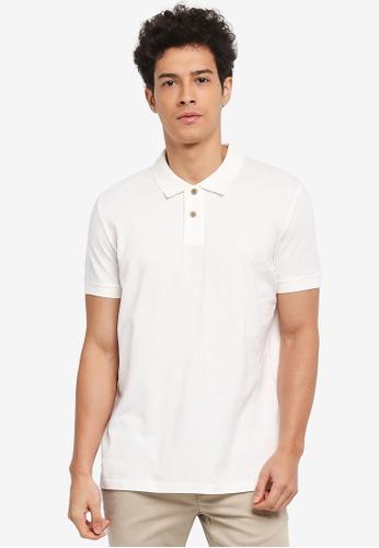 ESPRIT 白色 Short Sleeve Polo Shirt B979EAAA5FAF8FGS_1