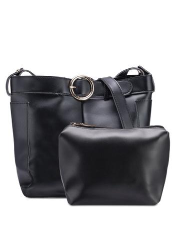 Berrybenka black Henrietta Martha Shoulder Bag C5DD7AC7E8C85CGS_1