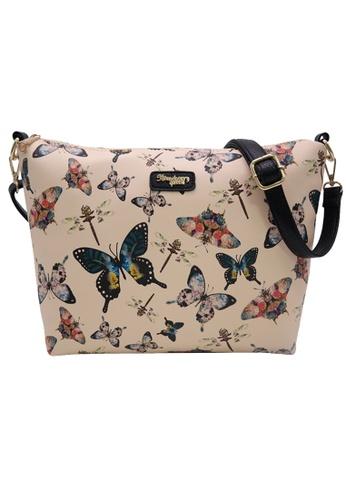 STRAWBERRY QUEEN beige Strawberry Queen Flamingo Sling Bag (Butterfly AS, Beige) D515CACFDE5616GS_1