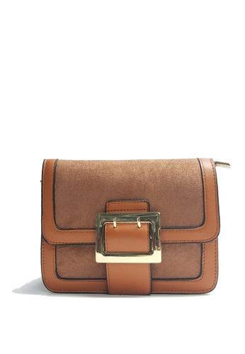 Lara brown Women's Simple Crossbody Bag 7D215AC30AD74EGS_1
