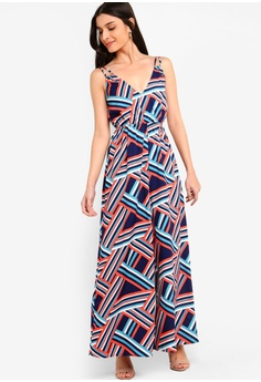 cfa897719ac ZALORA multi and navy Double Straps Jumpsuit D03FCAA7B67337GS 1