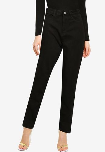 MISSGUIDED black Mg X Assets Comfort Stretch Split Hem Jeans AEEA5AAD97D66DGS_1