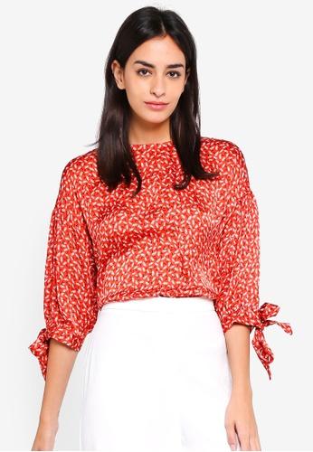 e163d19081573 ESPRIT red Woven Half Sleeve Blouse 56C2CAAA8A4A06GS 1