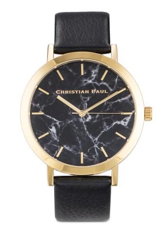 Brighton 43mm 大理石錶盤刻度圓錶, 錶zalora 男鞋 評價類, 飾品配件