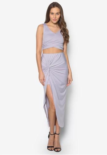 短版無袖上衣裹飾zalora 台灣裙套裝, 服飾, 上衣