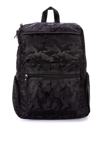 Chase Fashion black Water Repellent Camouflage Backpack 47970AC28E8B1AGS_1