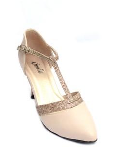 Hazel T-Strap Pointed Heels