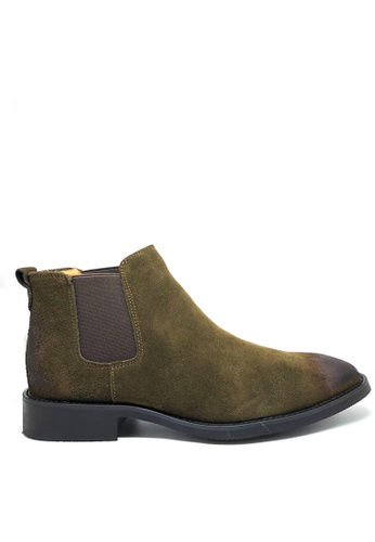Twenty Eight Shoes 擦色牛猄皮英式短靴 MC126 35DD0SHB11D27FGS_1