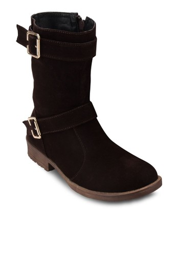 Desprit outlet 台中ouble Buckles Boots, 女鞋, 靴子