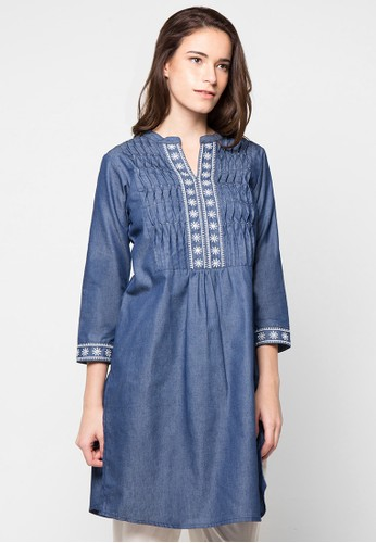 CHANIRA FESTIVE COLLECTION blue Rahila Casual Tunic CH354AA86BHPID_1