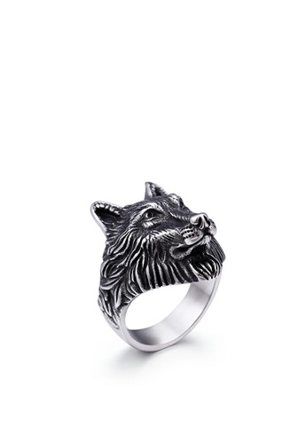 HAPPY FRIDAYS Stailess Steel Wolf Head Ring KL48276 1031CACF301BBBGS_1