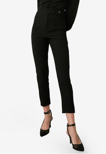 Trendyol black Belt Detail Pants CFB62AACE8C9DFGS_1