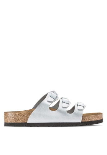 Birkenstock silver Florida Sandals BI090SH42CRXMY_1