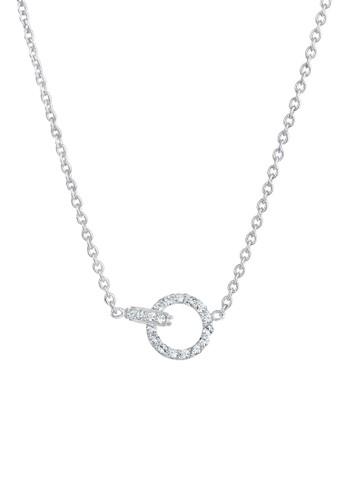 Elli Germany white Perhiasan Wanita Perak Asli - Silver Kalung Circle Geo BAEBCAC2695523GS_1