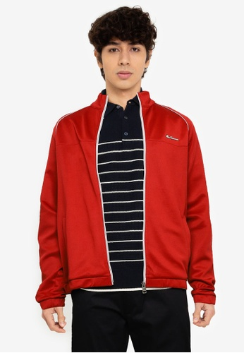 Ben Sherman red Tricot Zip Through Jacket 28230AA902909FGS_1