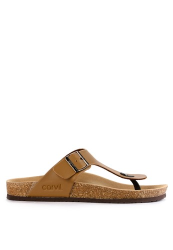 CARVIL brown Carvil Sandal Footbed Man Jaden-01 Stone 7B755SH77CC793GS_1