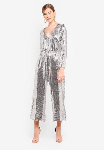 992e9645 Buy Miss Selfridge All Over Sequin Jumpsuit Online   ZALORA Malaysia