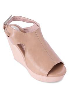 Cutout Wedge Sandals