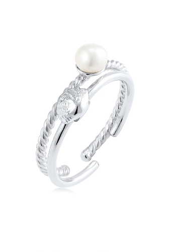 Elli Germany silver Elli Germany Ring Set Of 2 Rings Freshwater Pearl 925 Silver BE492AC4F56A96GS_1