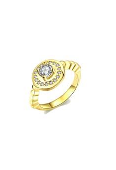 Royal Diamond Gold Ring Size 8