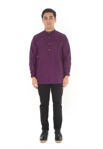 Amar Amran purple Kurta Luqman 746C8AA4F28F22GS_1
