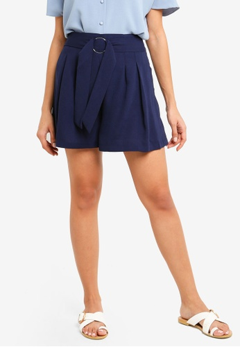 ZALORA navy Relaxed Shorts AE8ABAAF3D79D1GS_1
