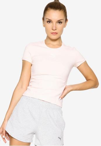 Puma pink Classics Fitted Women's Tee A9247AAA10F3FEGS_1