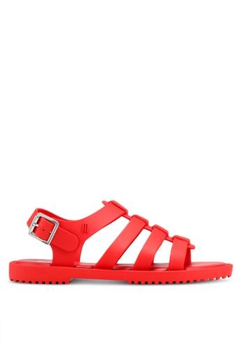 Melissa 紅色 後繞帶涼鞋 82CE1SH895417AGS_1