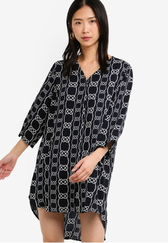 ZALORA BASICS multi Basic Oversized Shirt Dress 4FC64AA4F03ED1GS_1