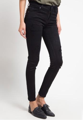 BRONCO black Slim Fit Ripped Soft Denim 2960FAAB59CFD1GS_1