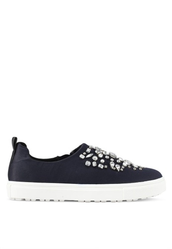 River Island navy Embellished Slip On RI009SH0SYMGMY_1
