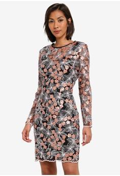Miss Selfridge multi Rose Gold Sequin Floral Dress MI665AA0SABXMY 1 c4031bff3