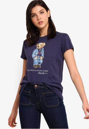 polo ralph lauren navy Denim Bear Short Sleeve Knit T-shirt 21681AA34E495BGS_1